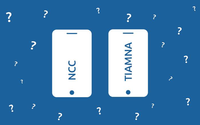 NCC en Tiamna schermen