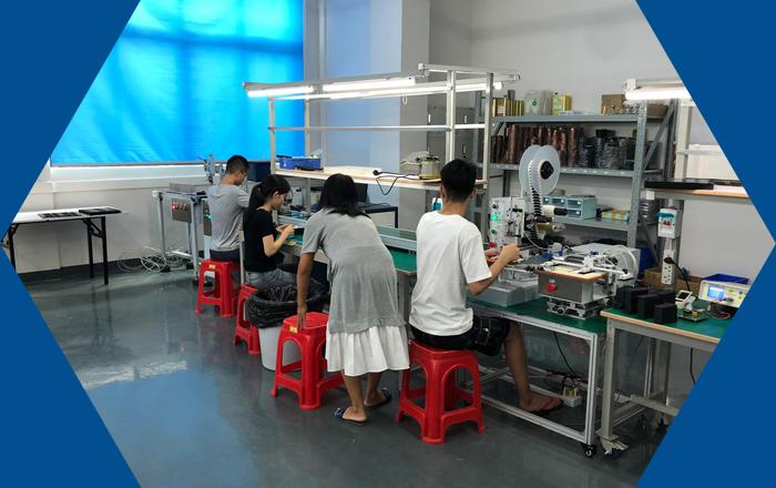 Accu assemblage fabriek in Guangzhou