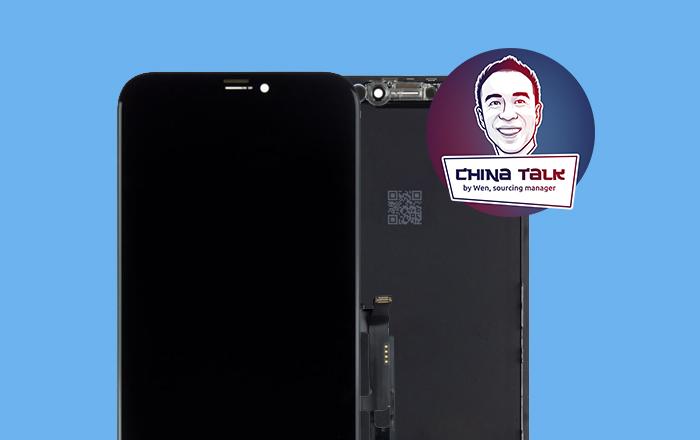 Test iPhone XR nieuwe In-cell copy schermen door sourcing manager Wen