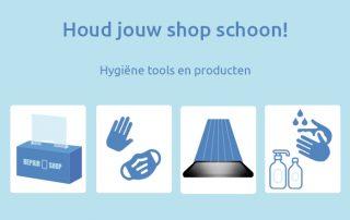 Houd jouw shop schoon met hygiene tools