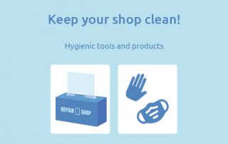 Keep your shop clean with hygienic tools and products